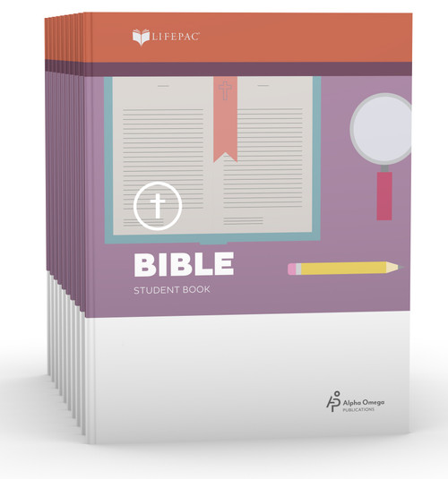 LIFEPAC Bible Set of 10 Student Books 5th Grade