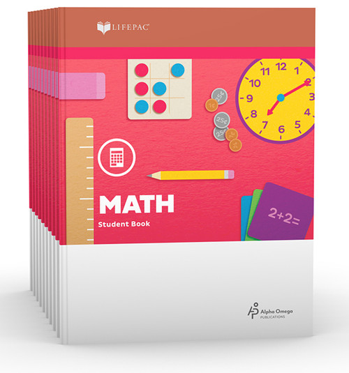 LIFEPAC Math Set of 10 Student Books 2nd Grade