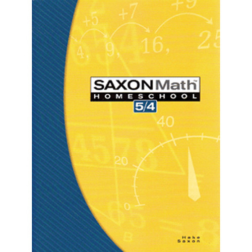 Saxon Math 54 3rd Edition Student Textbook
