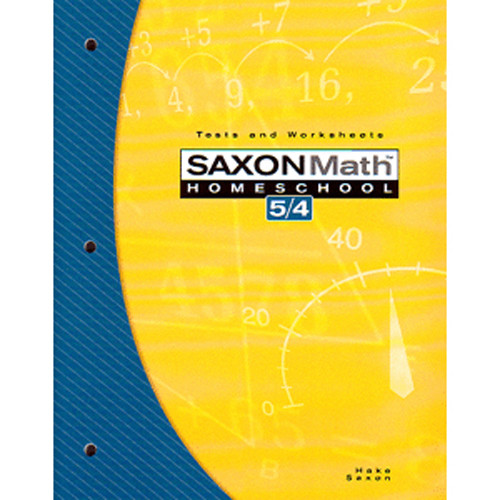 Saxon Math 54 3rd Edition Tests and Worksheets