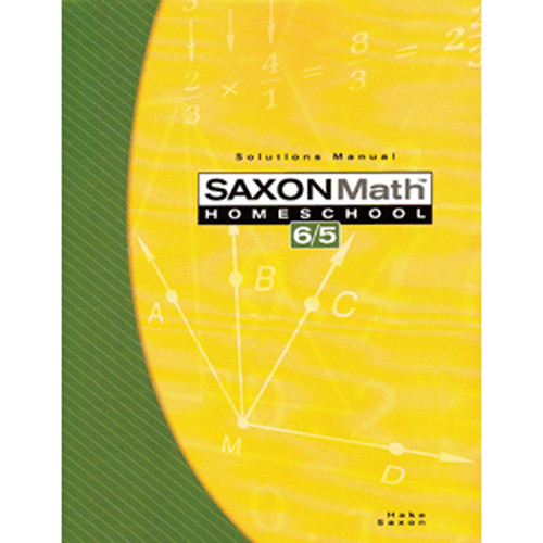 Saxon Math 65 3rd Edition Solutions Manual