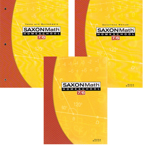 Saxon Math 76 Homeschool Set in a Box