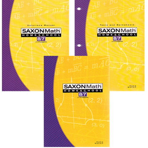 Saxon Math 87 3rd Edition Homeschool Kit