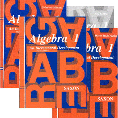 Saxon Algebra 1 3rd Ed Homeschool Kit with Solutions Book
