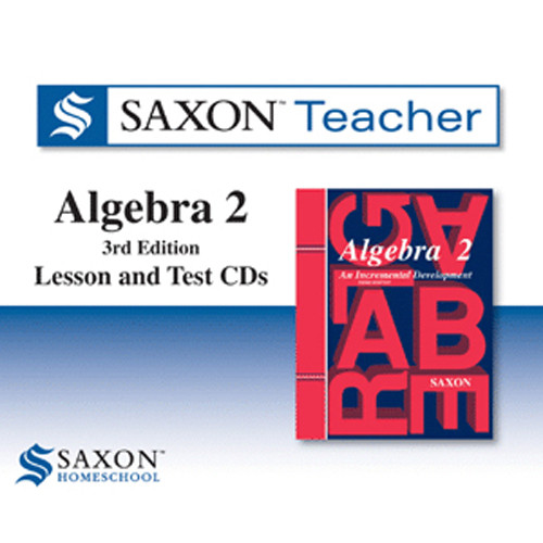Saxon Algebra 2 Homeschool Teacher Software CDs