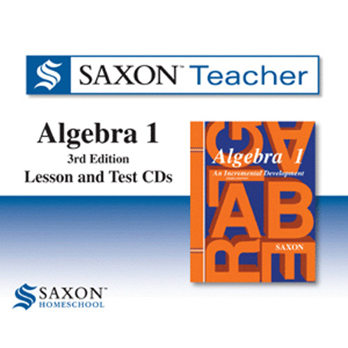 Saxon Algebra 1 Homeschool Teacher Software CD-ROMs