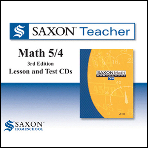 Saxon Math 54 Homeschool Teacher Software