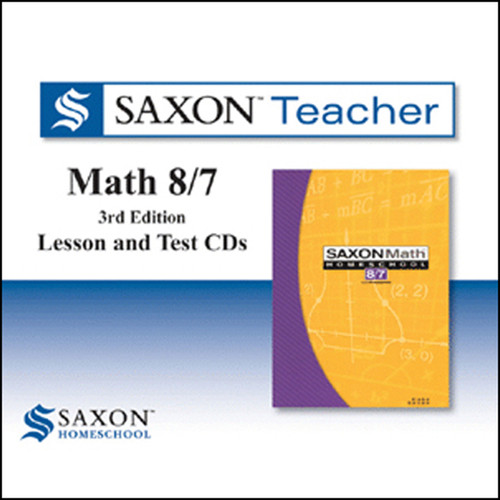 Saxon Math 87 Homeschool Teacher Software CDs