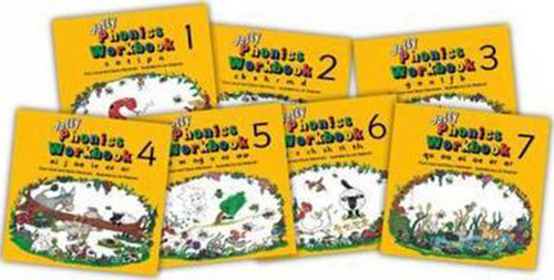 Jolly Phonics Seven Workbooks Set, Books 1-7