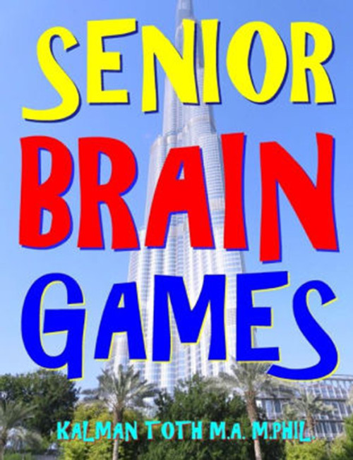 Senior Brain Games: 2048 Entertaining Word, Logic & Math Puzzles