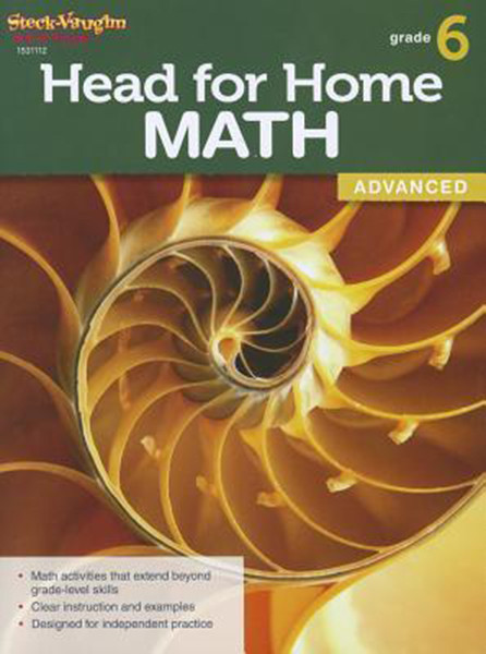 Head for Home Math Advanced Workbook Grade 6
