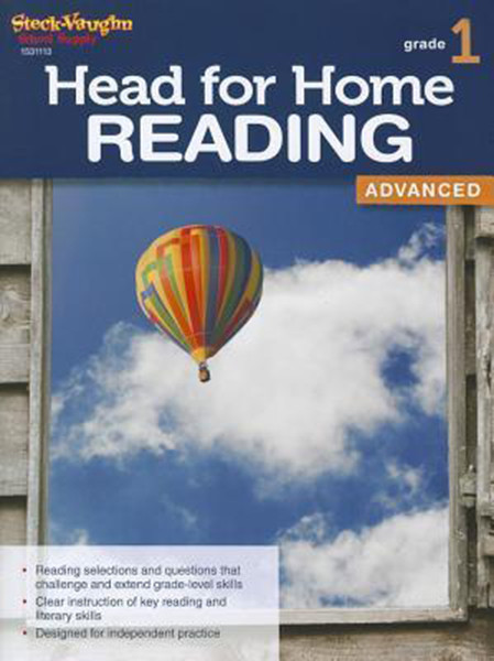 Head for Home Reading Advanced Workbook Grade 1