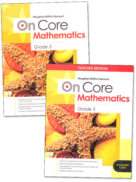 On Core Math Teacher and Student Bundle Grade 5
