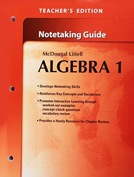 Holt McDougal Larson Algebra 1 Teachers Notetaking Guide