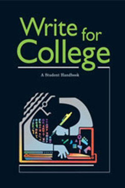 Write for College Student Handbook Softcover Grades 11-12