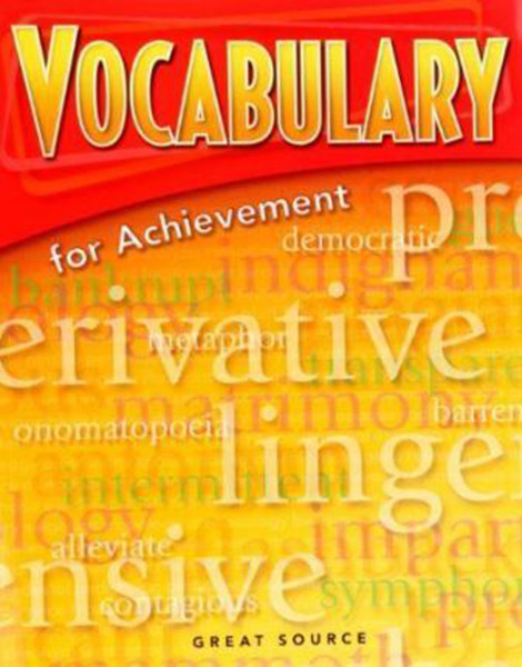 Great Source Vocabulary for Achievement Student 6th Grade