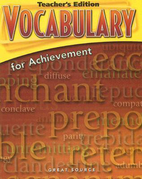Great Source Vocabulary for Achievement Teacher Edition 12th Grade