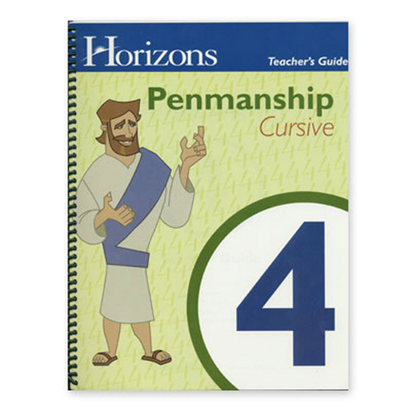 Horizons Penmanship Teacher Guide 4th Grade