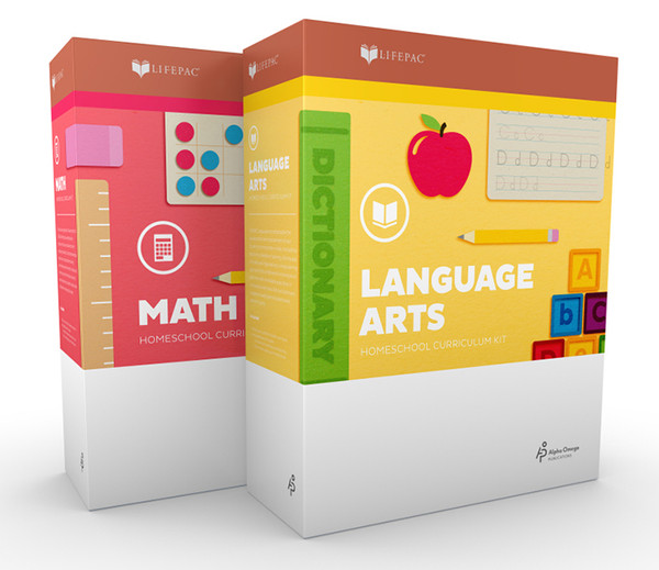 LIFEPAC 2-Subject Complete Homeschool Curriculum Set Kindergarten