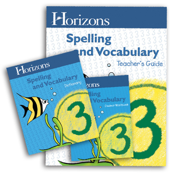 Horizons 3rd Grade Spelling & Vocabulary Homeschool Curriculum Set