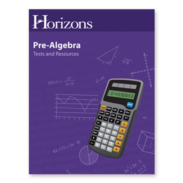 Horizons Pre-Algebra Tests and Resources