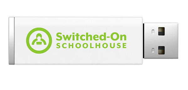 Switched on Schoolhouse Math Homeschool Curriculum on USB Drive 4th Grade