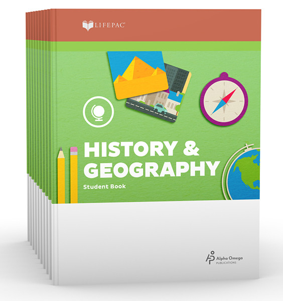 LIFEPAC History & Geography Set of 10 Student Books 1st Grade