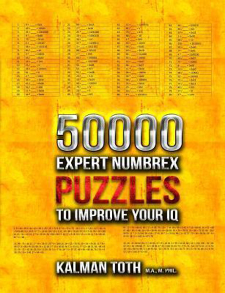 50000 Expert Numbrex Puzzles to Improve Your IQ