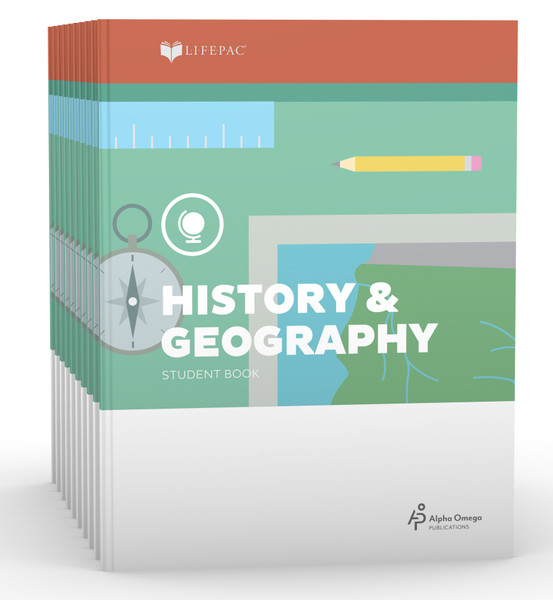 LIFEPAC History & Geography Set of 10 Student Books 5th Grade
