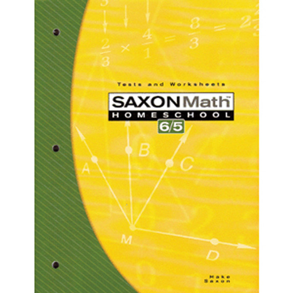 Saxon Math 65 3rd Edition Tests and Worksheets