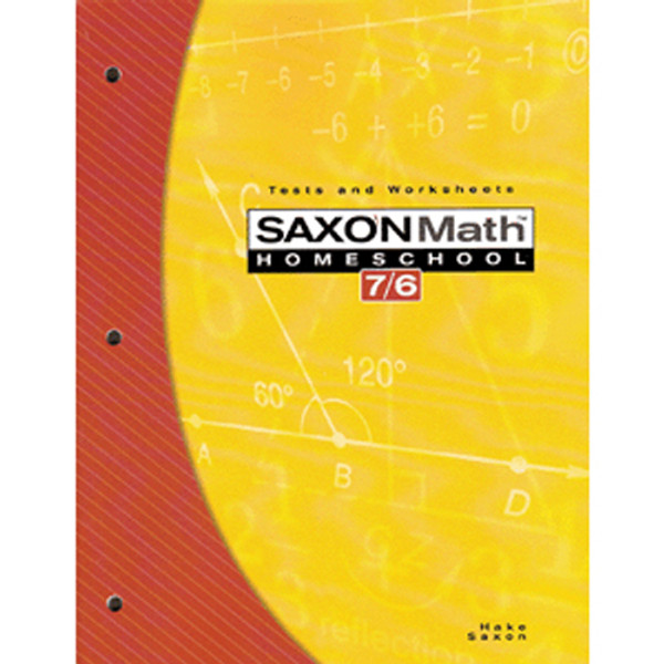 Saxon Math 76 4th Edition Tests and Worksheets