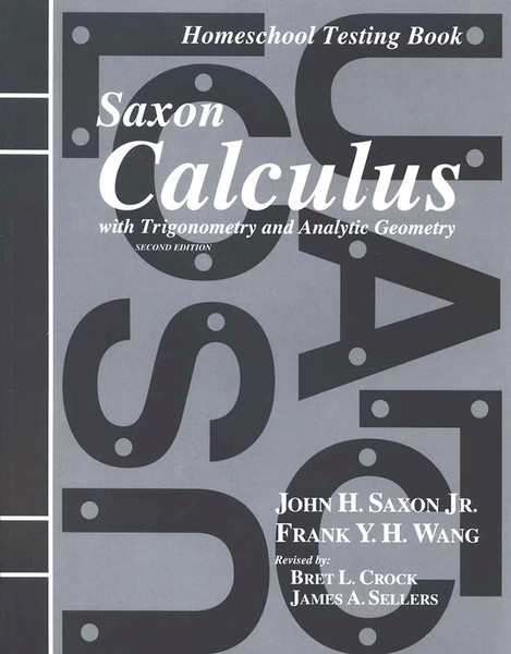 Saxon Calculus Tests Book 2nd Edition
