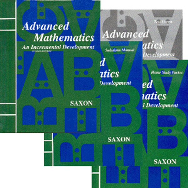 Saxon Advanced Math 2nd Ed Homeschool Kit with Solutions Book