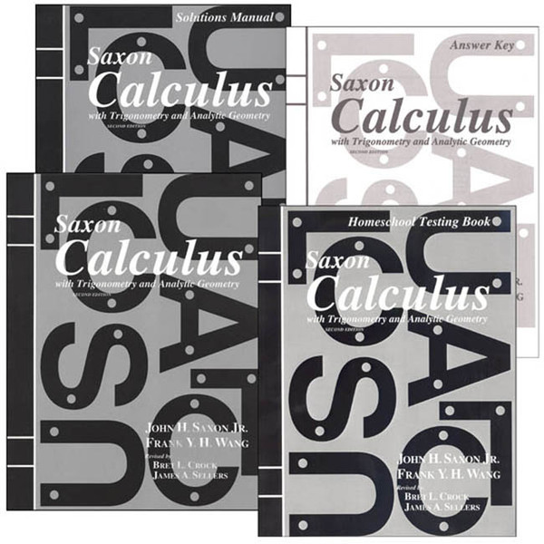 Saxon Calculus Homeschool Kit with Solutions 2nd Edition