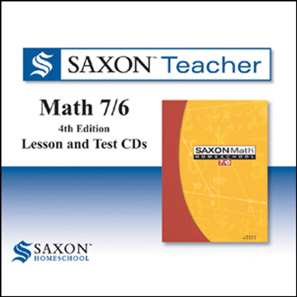 Saxon Math 76 Homeschool Teacher Software 4th Edition