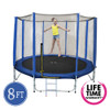 8ft Spring Trampoline with Net & Ladder