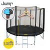 12ft Spring Jump Trampoline with Net, Ladder and Basketball Hoop
