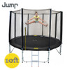 10ft Jump Spring Trampoline with Net, Ladder & Basketball Hoop