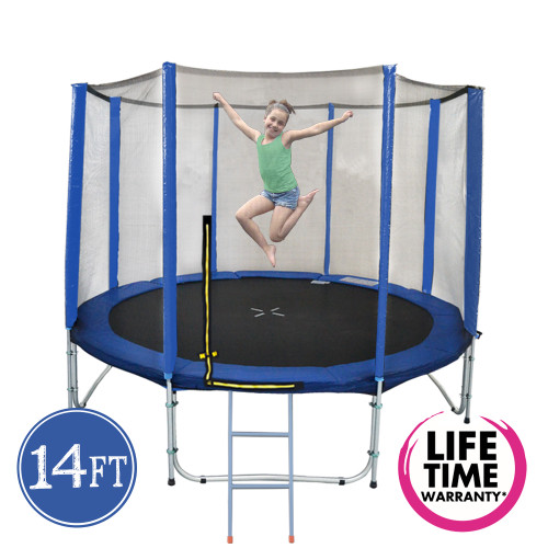 14ft Spring Trampoline with Net and Ladder
