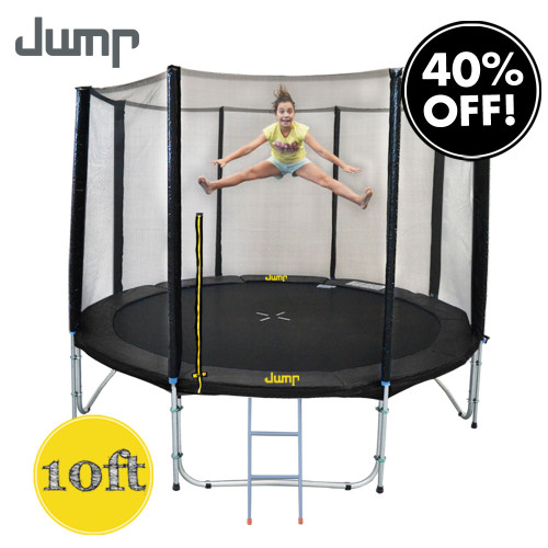 10ft Jump Trampoline with Net and Ladder