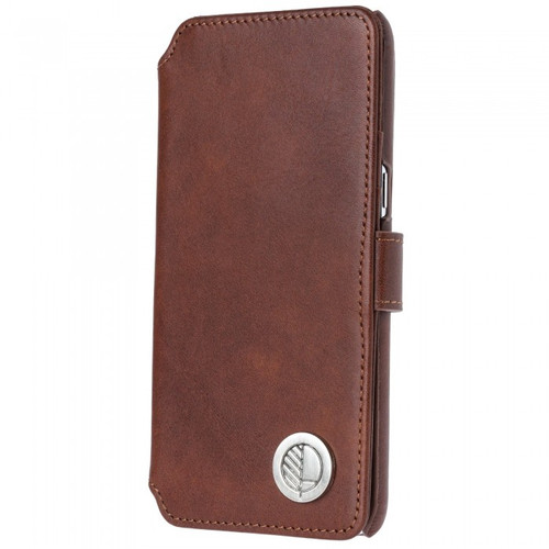 Class Leading Premium British Real Leather Samsung Galaxy S8 Wallet Case in Rich Brown