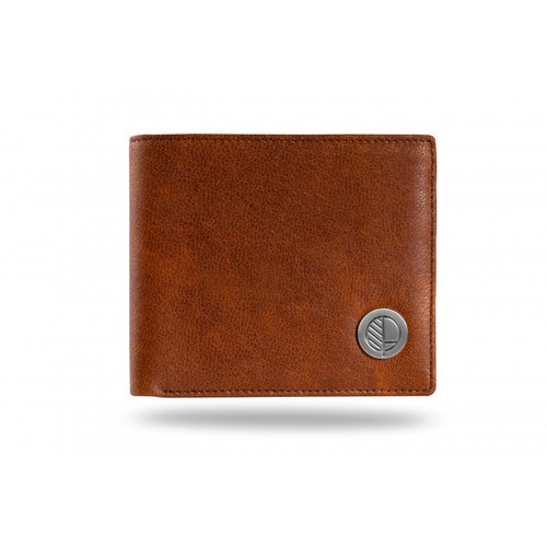 "Drew Lennox's Mens Bi-fold Wallet with Coin Pocket in Rustic Brown Leather – the ""Prime""."