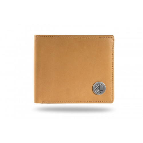 "Drew Lennox's ""Prime"" Luxury Men's Bifold Wallet in Genuine British Leather in Ultra Soft Camel Tan"
