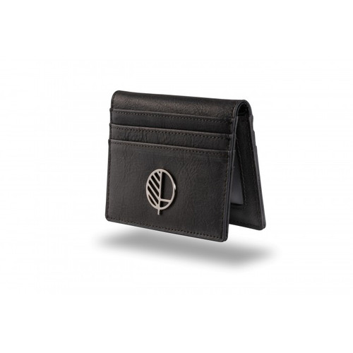 "Mini Wallet, Card Holder and ID Window - Charcoal Black - Great British Leather - the ""Active"" for 21st Century Men"