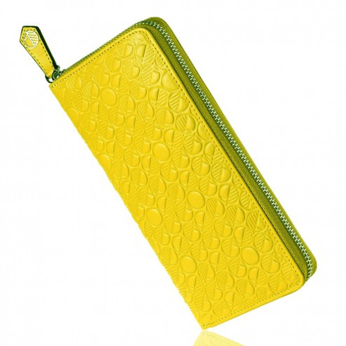 """Tactile Soft British Leather. 12 Card Slots and Much, Much more. Limited Edition """"Go"""" Purse is in Cress"""