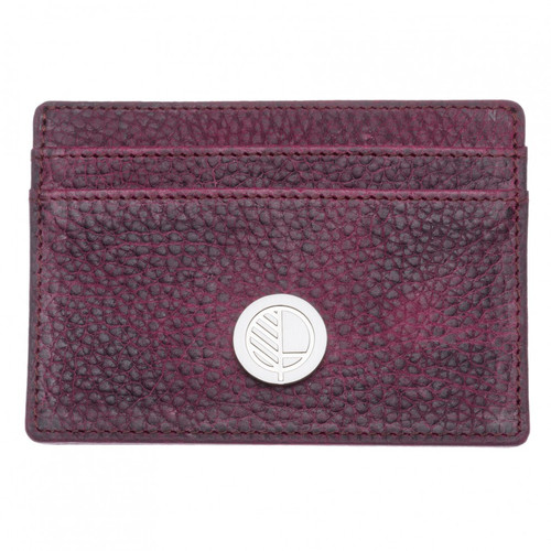 "Limited Edition! Textured Mountain Bear Plush Leather Card Holder - Amazingly Grained British Leather - Slim Card Case – the ""Poised"""