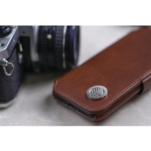 "The ""Answer"" - our Class Leading Premium British Real Leather iPhone 5 5S SE Wallet Case in Rich Brown"