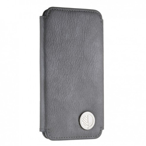 """The """"Always"""" Sumptuous British Genuine Leather iPhone 6 6S Wallet Case and Folio in Smooth Pearlised Scorpion Rhino Silver Grey"""