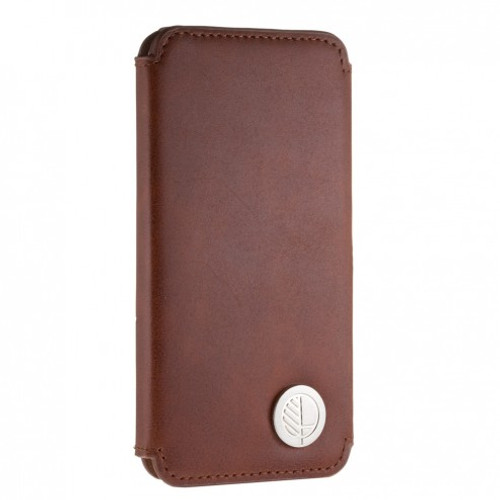 """The """"Always"""" Sumptuous British Genuine Leather iPhone 6 6S Wallet Case & Folio in Smooth Natura Caramelo Brown"""