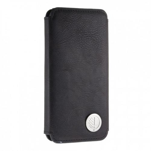 Class Leading Soft Premium British Real Leather iPhone 7 Wallet Case in Verglas Black
